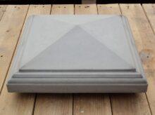 Afdekker punt met sierrand 35 x 35 cm grijs