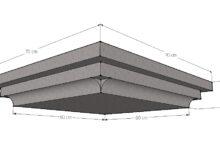 Paalmuts vlak met sierrand 60 x 60 cm grijs