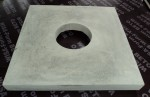 Schoorsteenplaat grijs vlak met ronde doorvoer