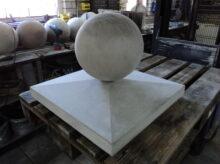 Paalmuts 4 zijdig aflopend met betonbol